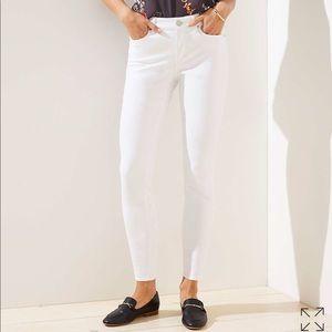 NWT LOFT Skinny Curvy white jeans